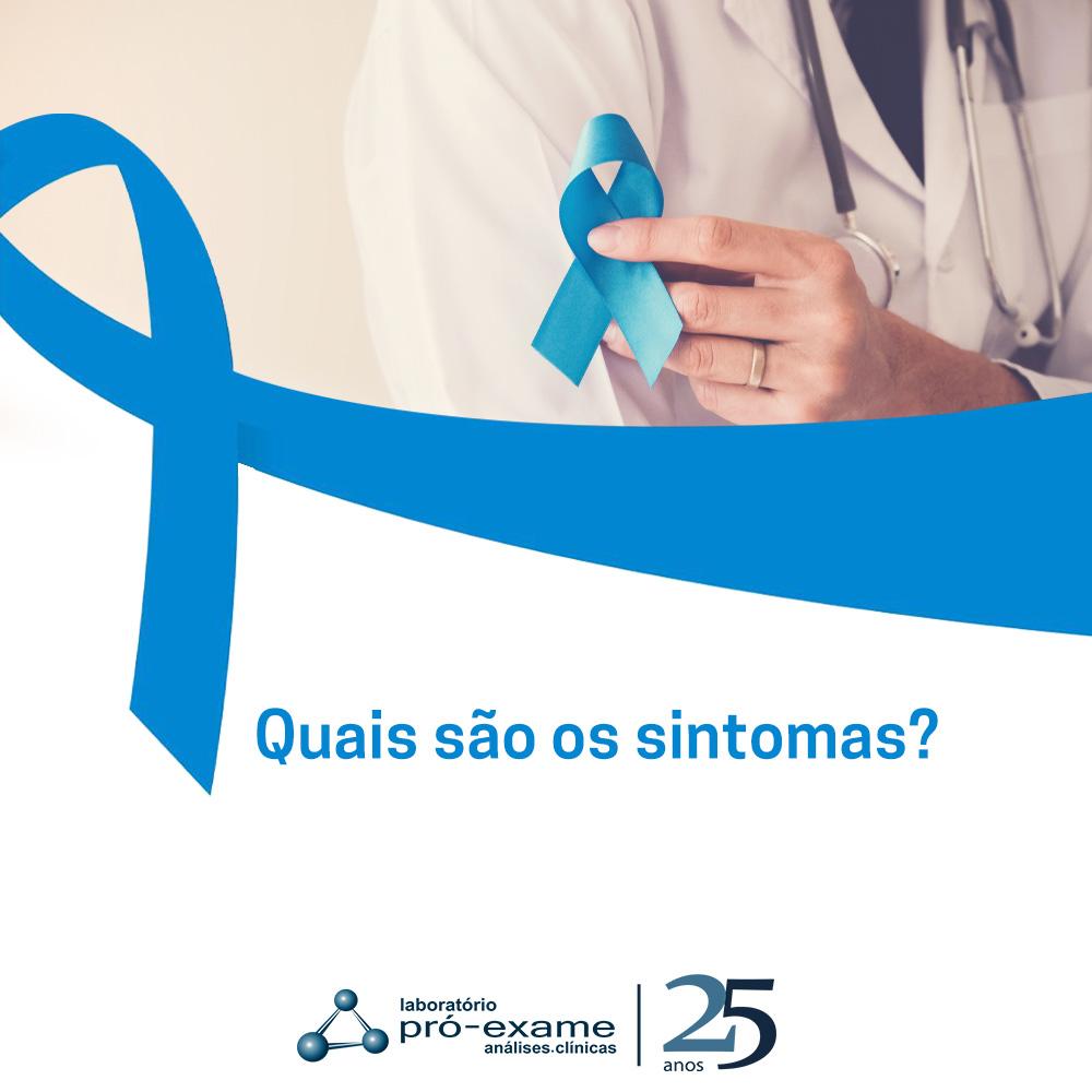 sintomas do cancer de próstata